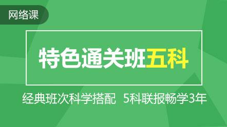 税务师-联报课程-特色通关班(五科)