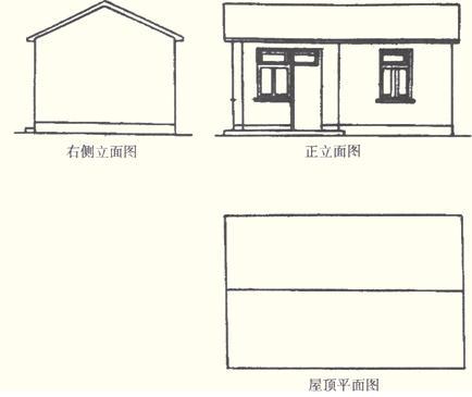 识图原理; 建筑 三视图建筑手绘三视图3d建模建筑三视图; 建筑工程
