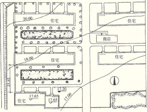 """第六章 建筑工程量计算   知识点三、建筑工程图纸   (一)建筑平面图   建筑工程平面图分为两大类:一类为总平面图;另一类为表达一项具体工程的平面图。   总平面图是宏观图,是综观全局的图。   总平面图比例尺较小,一般取1:500、1:1000、1:2000.总平面图中标高单位为""""m""""。      平面图中,反映了各房间的分割情况及用途、走廊走向、楼梯位置、门窗位置及开启方向等。屋顶平面图中,还要标明女儿墙位置、屋面排水坡度、屋顶水箱间、各种排气孔相应位置及雨水管的平面位置等"""