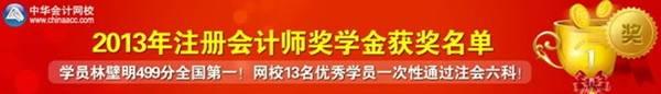 2013年注册会计师奖学金获奖名单