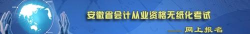 安徽省会计从业资格考试报名系统