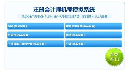 注册会计师机考模拟系统