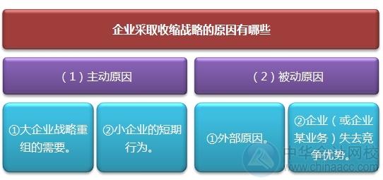 """2015注会""""借题发挥""""战略篇:紧缩与集中战略"""