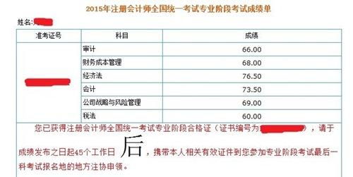 2012年广西注会专业阶段考试成绩查询时间