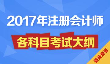 2017注册会计师考试大纲
