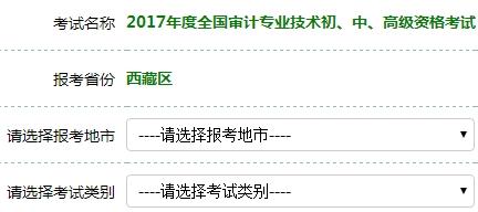 西藏2017年审计师考试报名入口开通