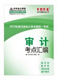 2018审计考点汇编电子书