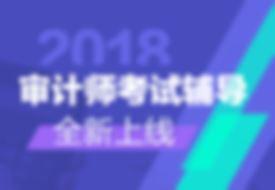 2018年审计师网上辅导招生方案