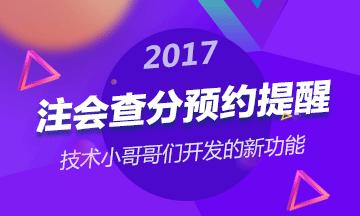 2017注册会计师查分