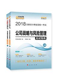 """2018年注册会计师《公司战略与风险管理》""""梦想成真""""系列应试指南(上下册)"""