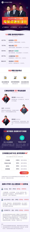中华会计网校中级会计职称考前点题密训班