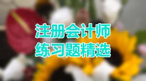 2019年注册会计师考试《会计》练习题精选(三)