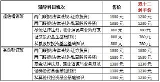 12.12巨惠活动,购买基金从业课程每满400减50