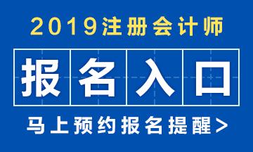 2019年注册会计师简章及大纲已公布!点击查看详情>>