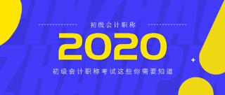 2020年初级会计职称报考需要知道的几大知识点