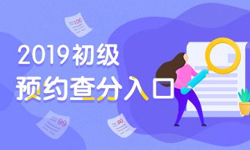【重要】2019初级会计职称查分预约入口,快人一步了解成绩