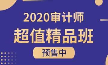 2020年审计师超值精品班课程预售