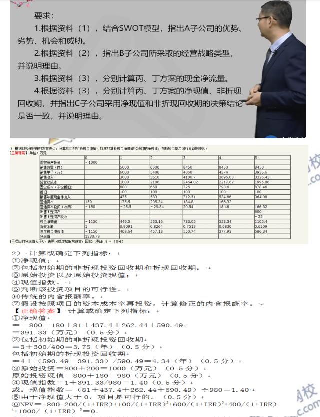 2019年高级会计师考试试题(回忆版)