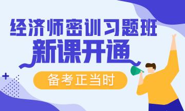 2019经济师密训习题班新课已开通