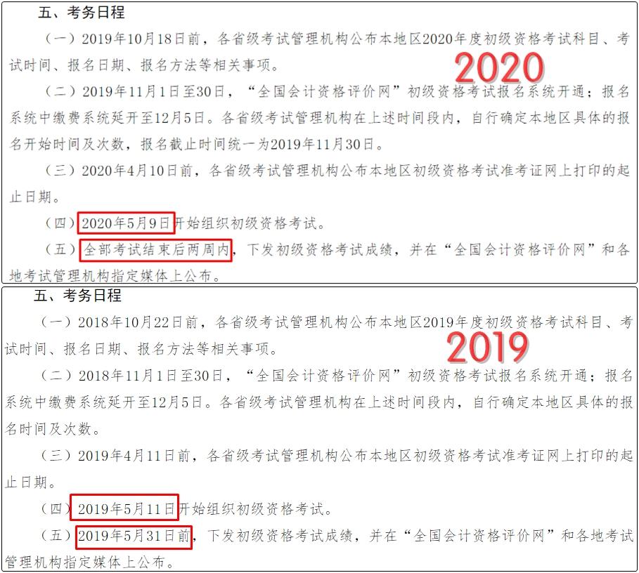 2019年会计人考证时间表曝光,初级连考9天,中级9月7日开考!