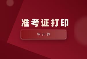 2020年江西中级审计师准考证打印入口
