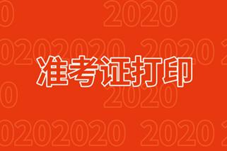 高级级经济师2020年准考证打印网址