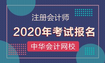 北京2020年注会报名费用已公布!