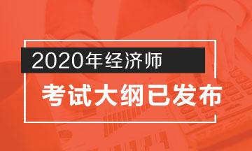 天津2020年中级经济师考试大纲公布了吗?