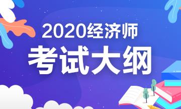 2020高级经济师全国统考考试大纲内容是什么?