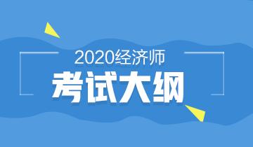 高级经济师2020年考试大纲及考试教材