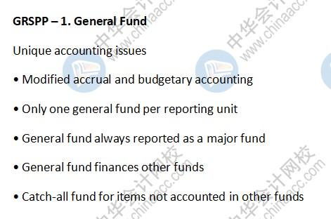 AICPA考点:GRSPP – General Fund