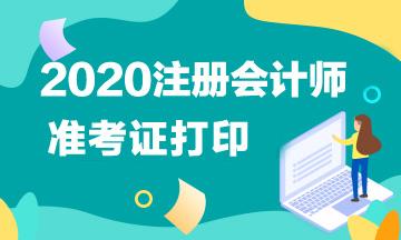 江西2020年CPA准考证打印时间公布了吗?