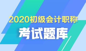 建议收藏!2020年青海会计初级考试练习题题库