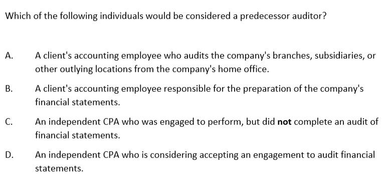 美国注册会计师AICPA历年试题(十三)—AUD