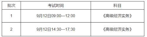 2020年辽宁初中高级经济师考试时间已公布