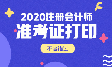 2020年宁夏CPA准考证打印入口即将关闭