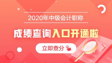 开通河南漯河2020年会计中级考试成绩查询入口了吗?