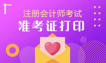 天津2020注册会计师准考证打印再次开通时间