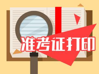 西藏注册会计师2020年准考证下载打印时间