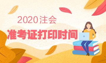四川2020年注册会计师准考证再次打印时间