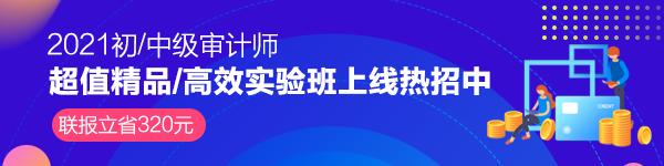 2021年审计师新课上线 联报立省!