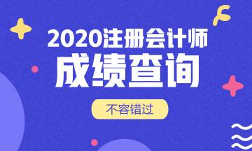 广东2020年注会成绩查询时间