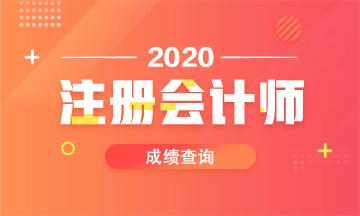 辽宁2020年注会考试成绩公布时间