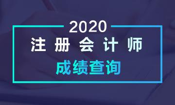 陕西西安2020注会成绩查询时间