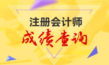 河南2020年注册会计师成绩查询时间