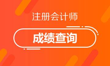 2020年浙江杭州注册会计师成绩查询时间有了吗?