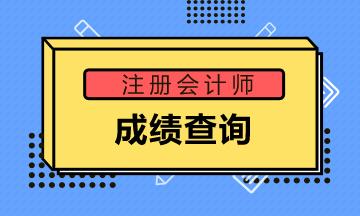 江西南昌2020年注册会计师成绩公布时间