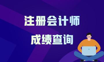河北省2020注册会计师考试成绩可以查了吗在哪里查