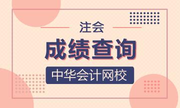 2020年浙江注册会计师成绩查询是什么时候?