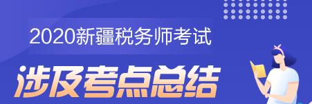 2020年新疆地区税务师《税法二》考试考点总结(学员反馈版)